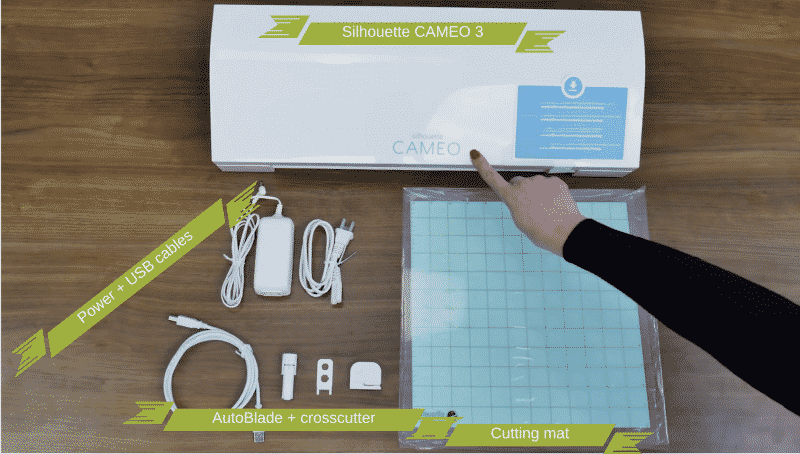 everything that comes included with a Silhouette Cameo 3
