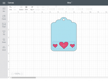 Screenshot from Cricut Design Space