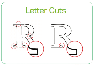 A comparison of a cut with and without Smart Cut technology