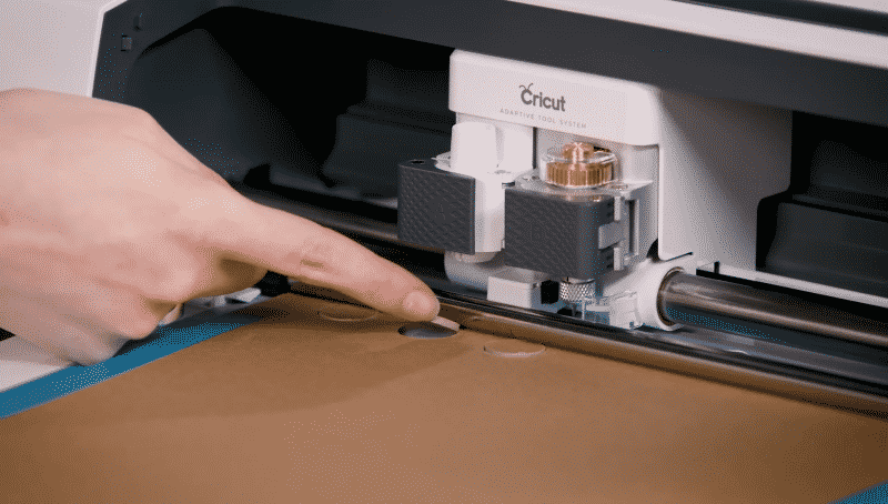 The Cricut Maker's Knife Blade in action