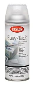 A spray can of Krylon Easy-Tack Adhesive