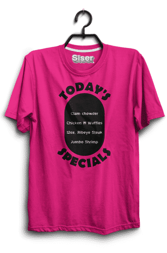 Shirt made with a heat press and heat transfer vinyl