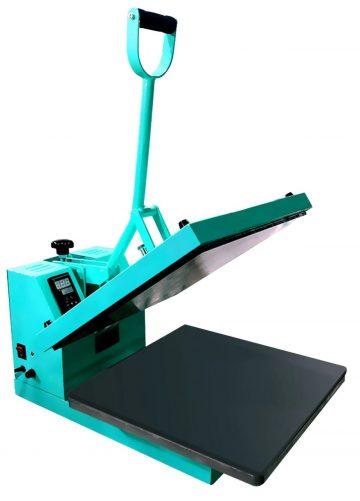 A blue heat press