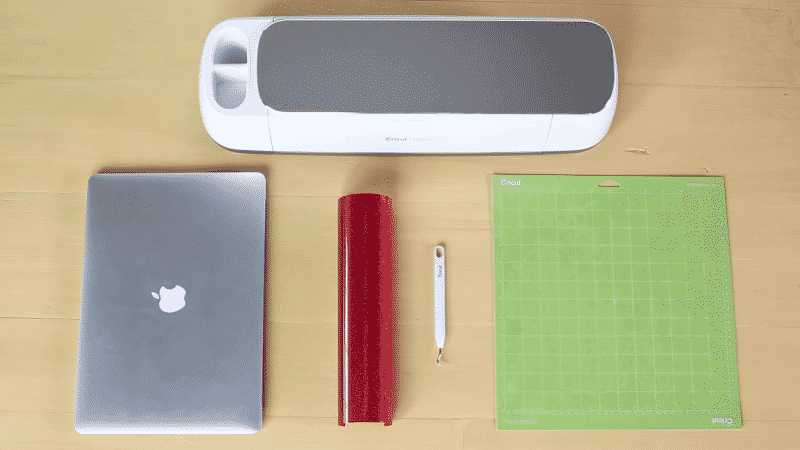 For cutting Cricut HTV, you need a computer with Design Space, a Cricut machine, iron-on vinyl, a cutting mat, and a weeding hook.
