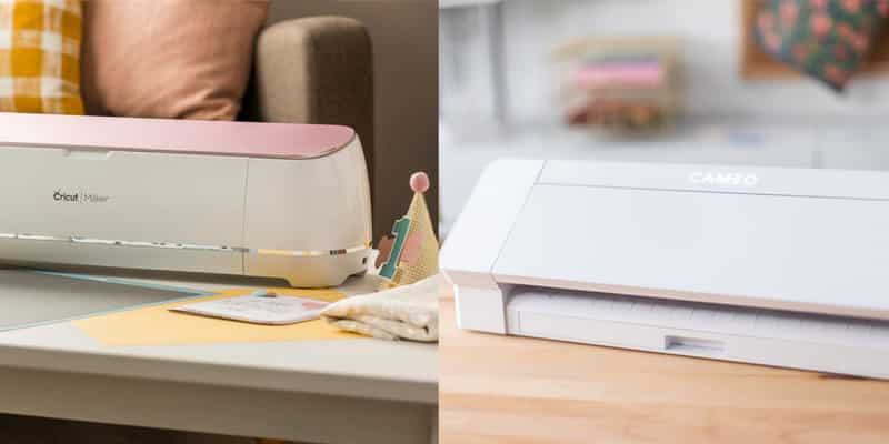 A comparison of Cricut and Silhouette cutting machines.