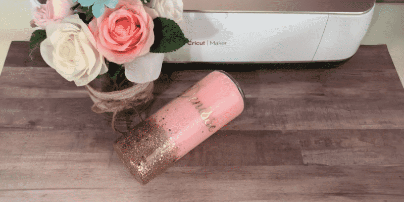 Finished epoxy glitter tumbler
