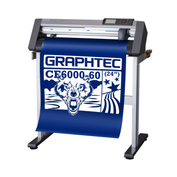 The Graphtec CE6000-60 Plus is installed on its stand.
