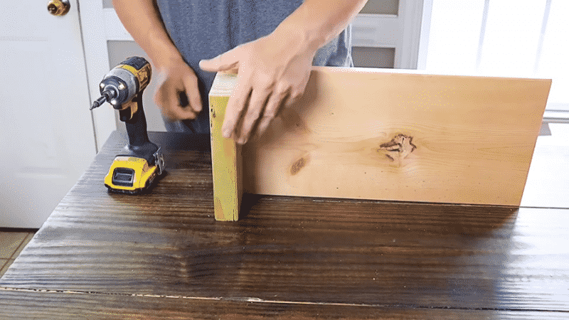 Attaching scrap 2x4 to the base