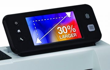 The Scan and Cut 2 LCD screen is 30% larger than the previous model.