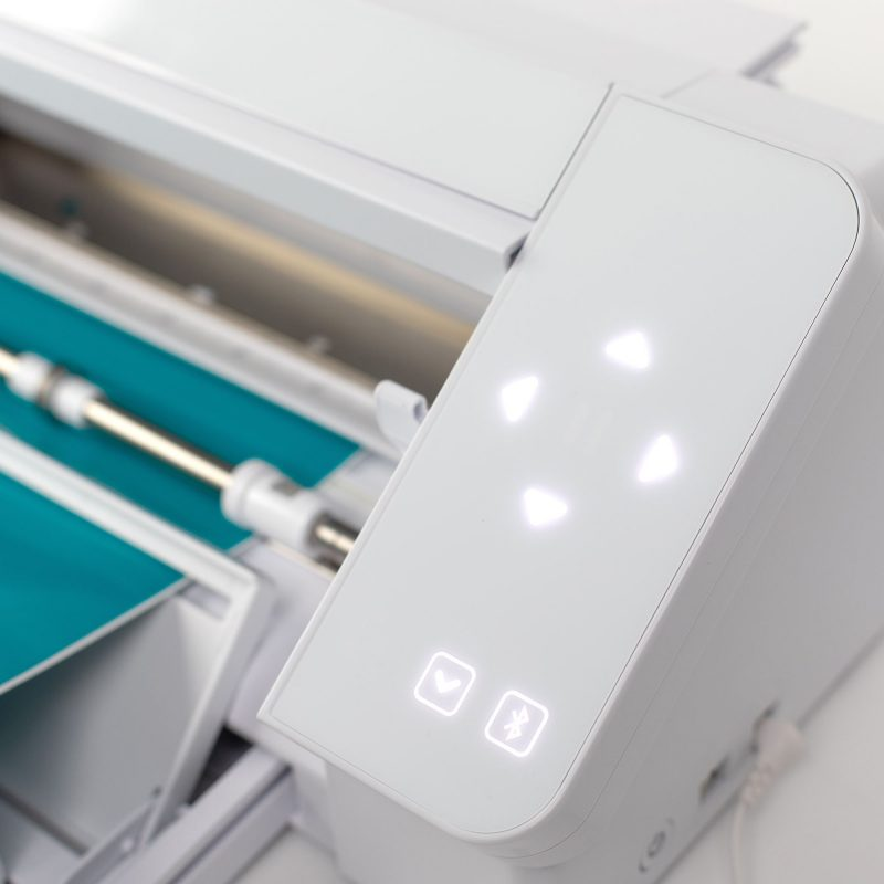 A close-up of the Silhouette Cameo's touch interface