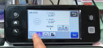 You can edit directly on the Scan and Cut touchscreen.